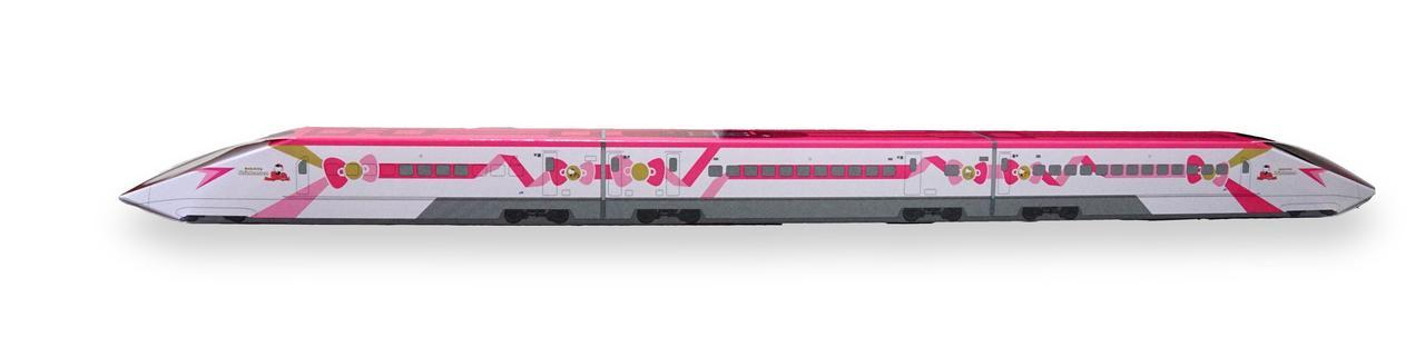 画像1: ハローキティ新幹線バームクーヘンが発売、長さ約50cm!