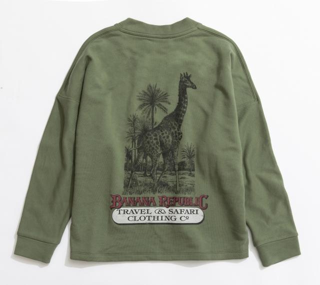 画像: ヘリテージ・サファリスウェットシャツ<ウィメンズ>オリーブ(キリン)/8,900円(税込)