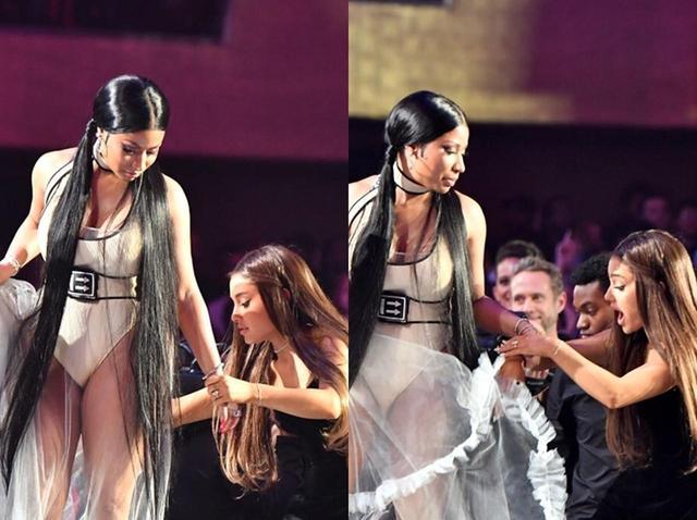 画像: 2人でなにやら楽しそうにおしゃべりする場面が見かけられるなど、舞台裏でも仲良しぶりを発揮。