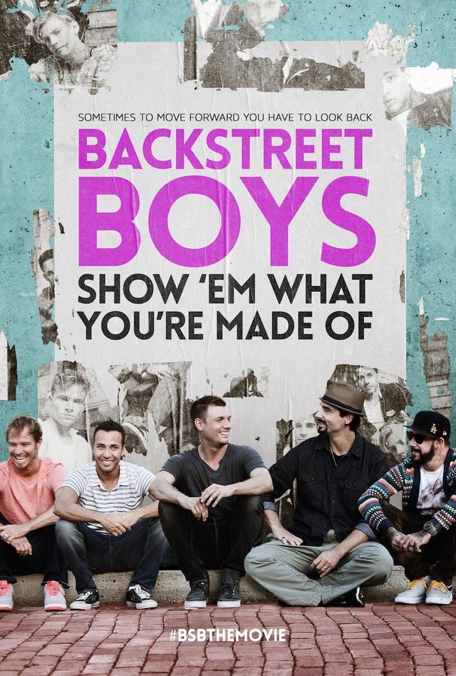画像: 映画『BACKSTREET BOYS:SHOW 'EMWHAT YOU'RE MADE OF』のポスター。