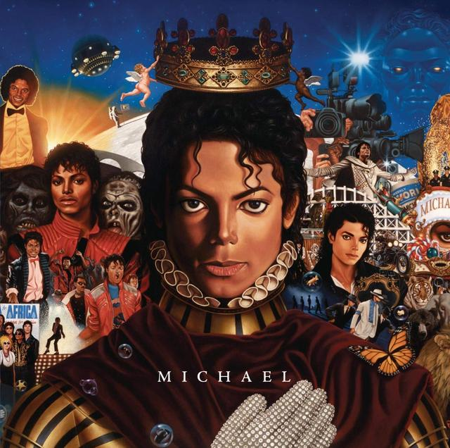画像: アルバム『マイケル』のCDジャケット。