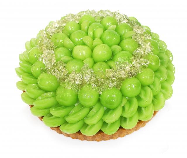 画像: 山梨県産シャインマスカット「富士山の彩(ふじやまのいろどり)」とハーブゼリーのケーキ