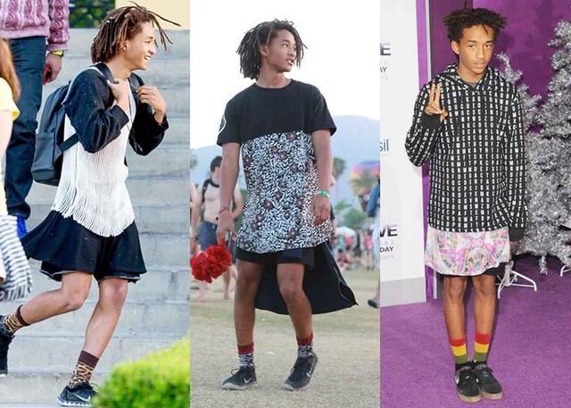 画像: 女性物のスカートやワンピースを難なく着こなすジェイデン。