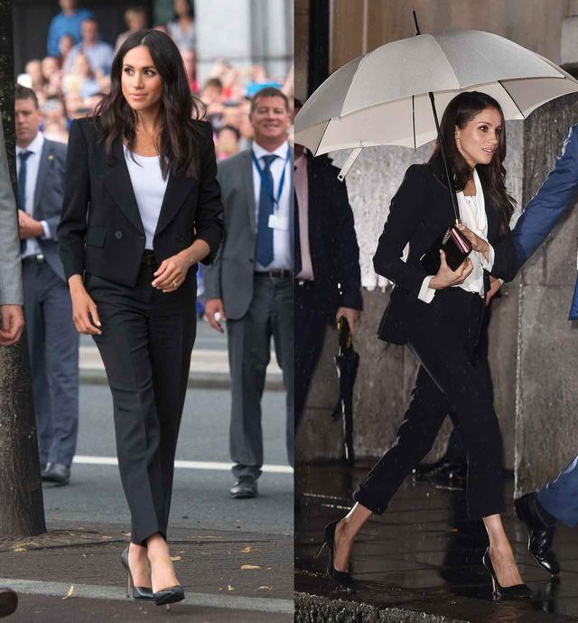 画像2: メーガン妃、夫が禁止した「スーツ」を再度着用!エリザベス女王はどう思ってる?