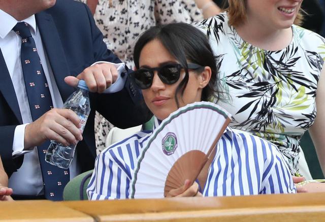 画像: ウインブルドンの観戦に訪れたメーガン妃。