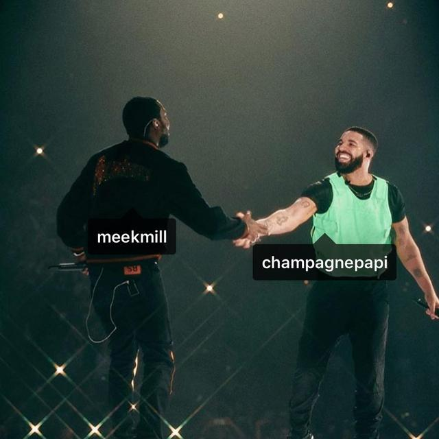 "画像1: Meek Mill on Instagram: ""MEEK MILL X @champagnepapi WE BOTH HAPPY AS SHITTT! "" www.instagram.com"