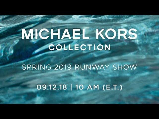 画像: LIVE: Spring 2019 Michael Kors Collection Runway Show youtu.be