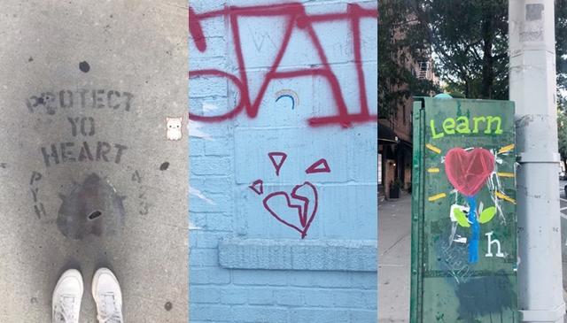 画像: アリアナが街の至る所で見つけた「ハート」モチーフのグラフィティ。中には、アリアナの傷ついた心を象徴するかのような「割れたハート」のモチーフも含まれていた。©Ariana Grande/ Instagram