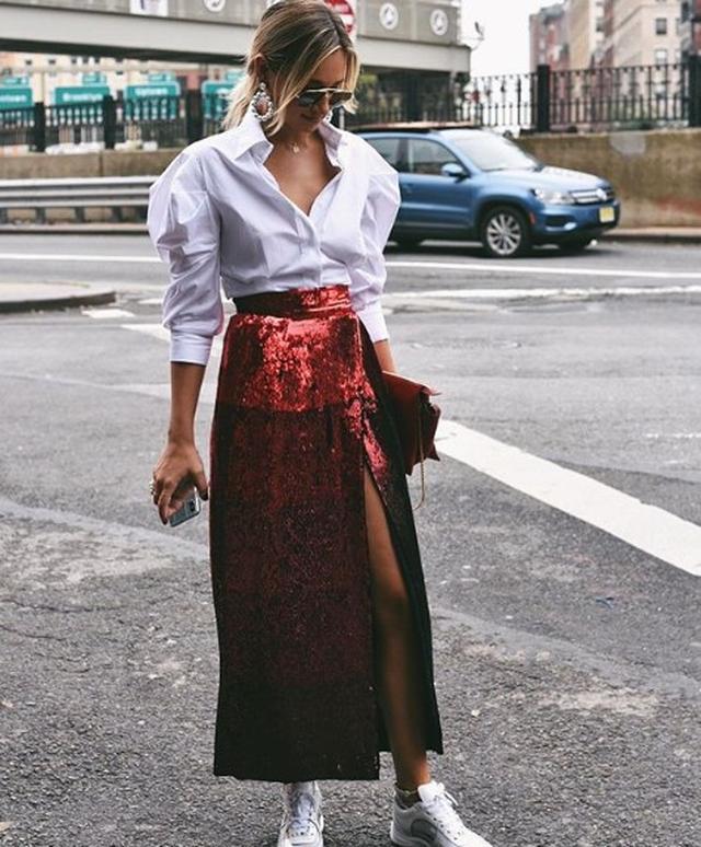 画像3: 今年はこう着るのが正解!海外セレブによる「白シャツ」の最旬コーデ集