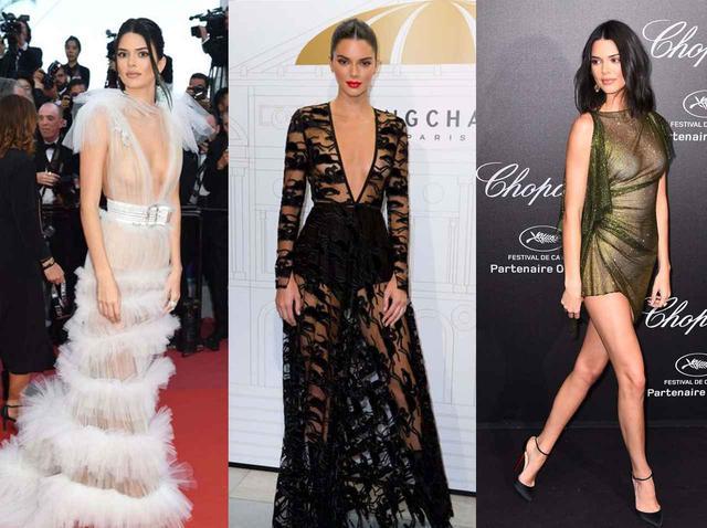 画像: ケンダルは、レッドカーペットでも胸が透けて見えるシースルーのドレスを着ることが多い。