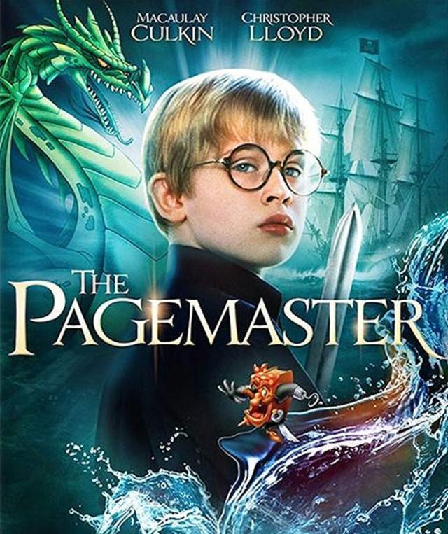 画像: マコーレーが出演した『ページマスター』(1994年米公開)のポスター。ちょっとハリー・ポッターに似ている?