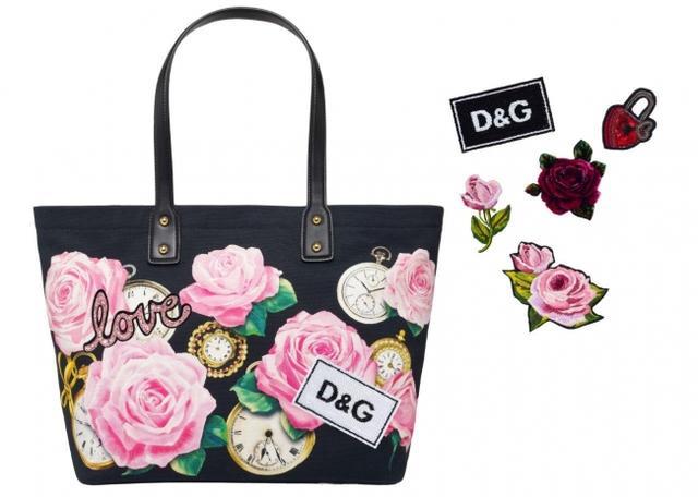 画像: (C)Dolce&Gabbana パッチによってカスタマイズできるトートバッグ ¥99,000 パッチ(別売り)¥8,100~