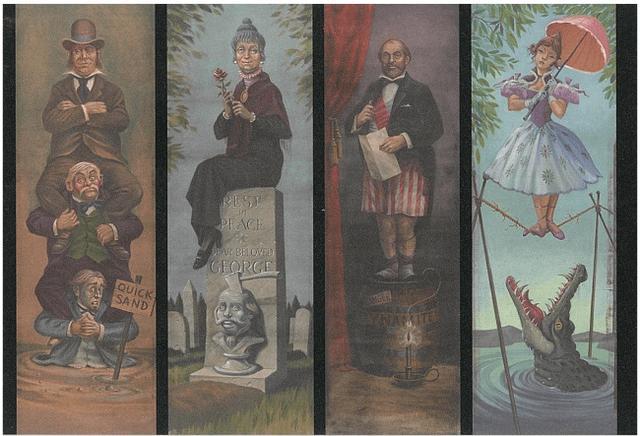 画像: 「伸びる肖像画の部屋」に登場する4枚の絵 ©Disney