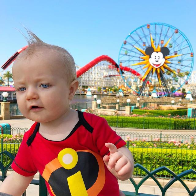 "画像1: Tucker on Instagram: ""Wait! Is that a cookie num num? Only three weeks until we are back at the parks!  We are so excited to explore Pixar Pier again and of…"" www.instagram.com"