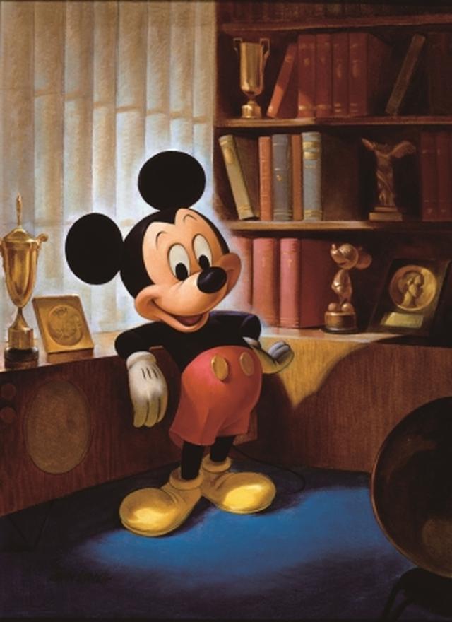画像: ジョン・ヘンチ画 ミッキーマウスの最初のポートレート(1953年)©Disney