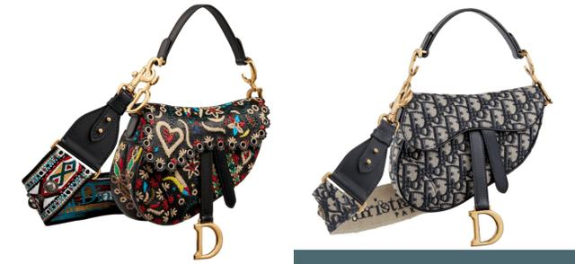 画像: 「サドル」バッグ: 左から  ¥830,000 (ストラップ ¥180,000) / ¥320,000 (ストラップ ¥180,000)