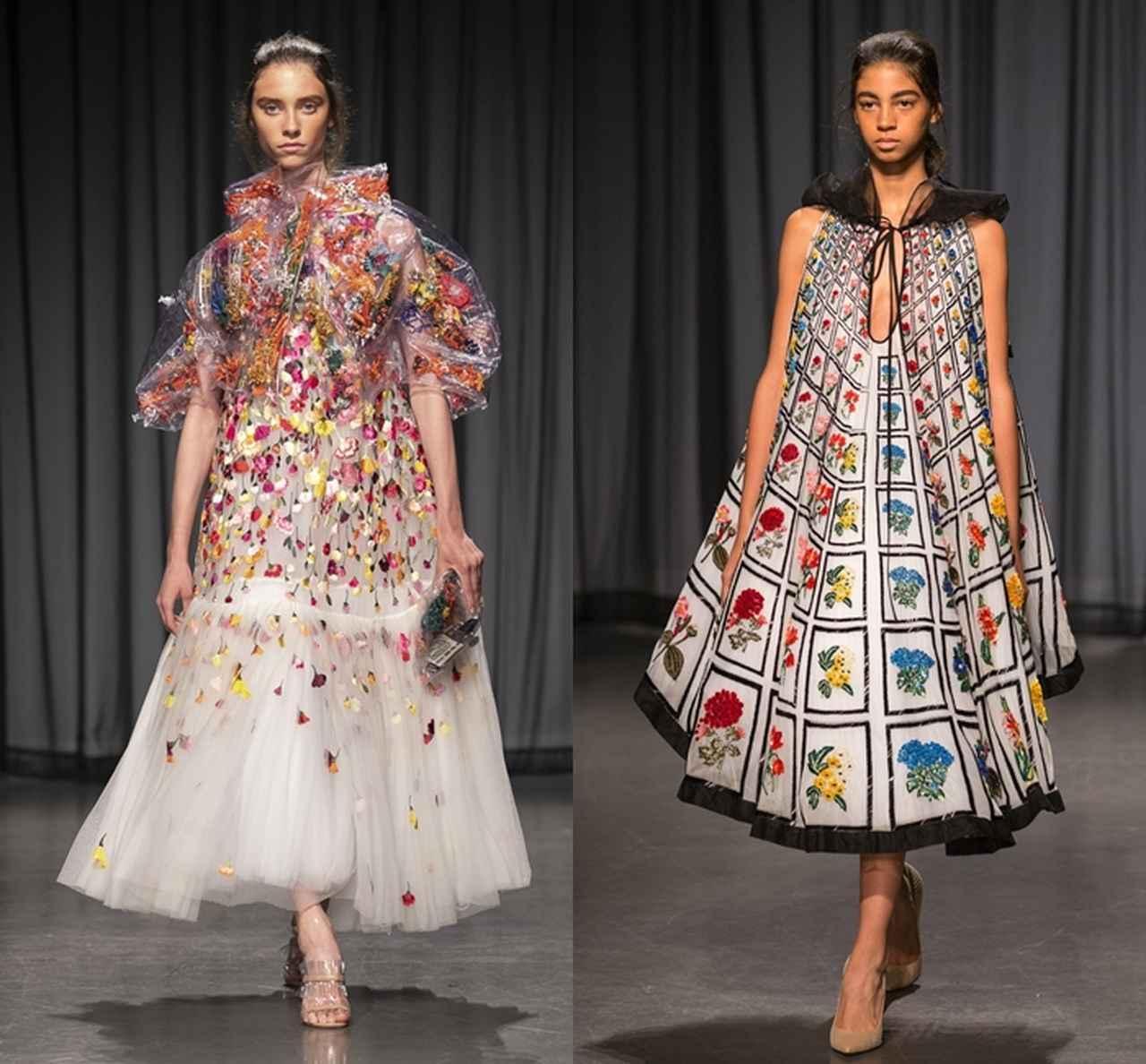 画像: 今年のロンドンファッションウィークで発表されたMary Katrantzouの新作は、ランウェイデビュー10周年を祝ったもので、過去のアーカイブ作品から影響を受けたものも登場。
