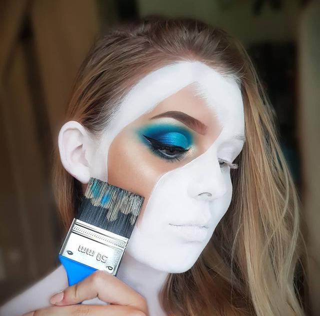 """画像1: Julia Lindén on Instagram: """"Recreated a look from the talented artist @makeupbyjaack today! I love being a little bit extra creative! I used Morphe 35B, Morphe x…"""" www.instagram.com"""