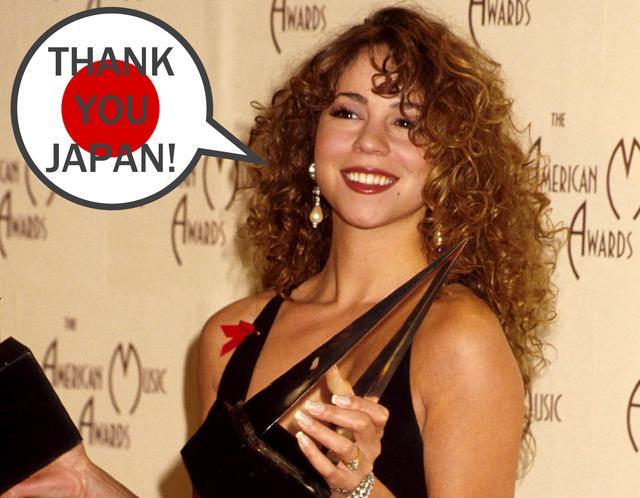画像: 当時のマライア。1993年のアメリカン・ミュージック・アワードで2冠に輝いた。