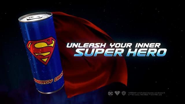 画像3: スーパーマンが、エナジードリンクに!