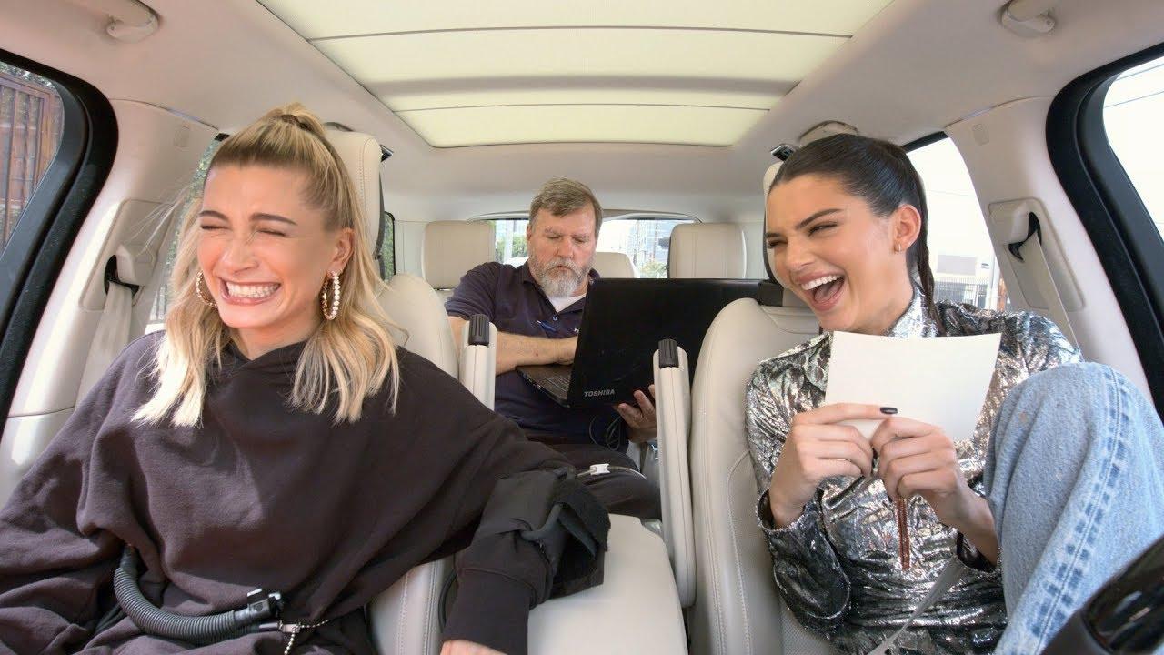 画像: Carpool Karaoke: The Series - Kendall Jenner & Hailey Baldwin Take a Lie Detector Test www.youtube.com