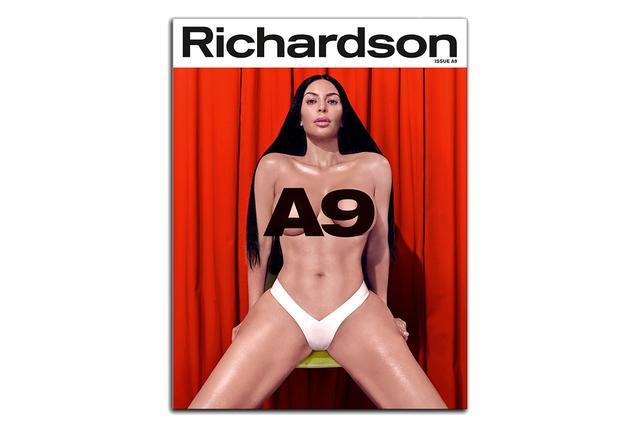 画像: Richardsonの創刊20周年記念号「A9」の表紙に登場したキム。©Richardson Magazine/ Instagram