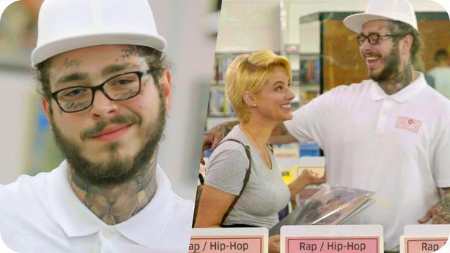 画像: Post Malone Pranks People with Undercover Record Store Surprise // Omaze www.youtube.com