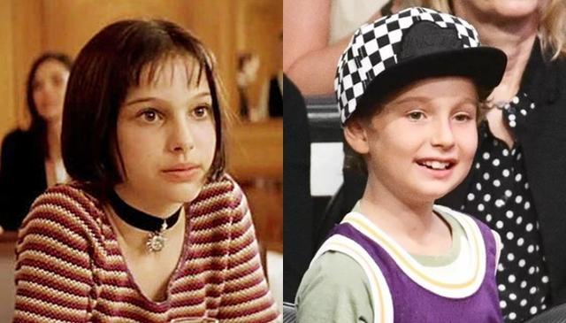 画像: 左:プロの殺し屋レオンを慕う少女マチルダを演じた当時12歳のナタリー。右:現在7歳のアレフ君。