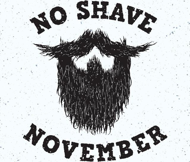 画像: 11月は男性特有のがんの認知度を高めるために、ひげやムダ毛の処理を控えるノー・シェイヴ・ノベンバー。