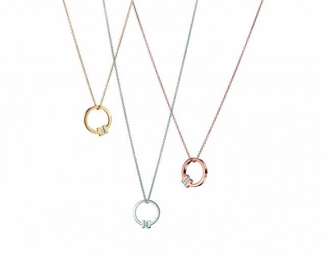 画像: (左から) 18Kイエローゴールドxダイヤモンド、18Kホワイトゴールドxダイヤモンド、18Kローズゴールドxダイヤモンド 各210,000円(税抜)
