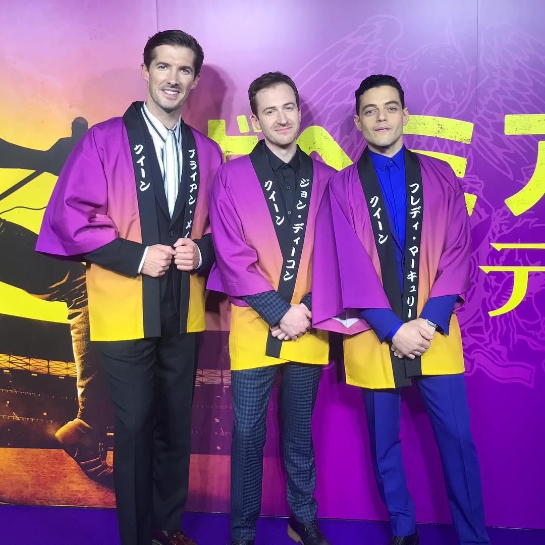 """画像1: Gwilym Lee on Instagram: """"What an honour..... We're so thrilled to have had a premiere screening in Tokyo, where we received a Happi coat and broke a ceremonial sake…"""" www.instagram.com"""