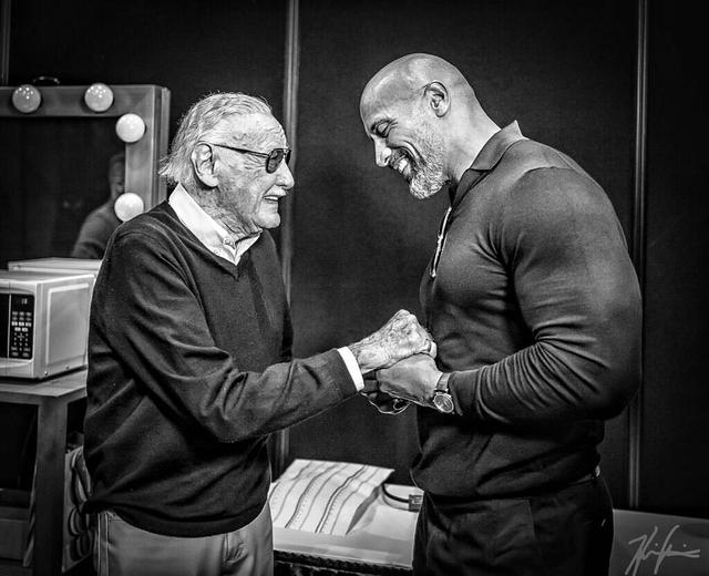 "画像1: @therock on Instagram: ""We lost a good one.  What a man and what a life.  Marvel's original superhero and co-creator of IRON MAN, SPIDER-MAN, THE HULK, X-MEN etc.…"" www.instagram.com"
