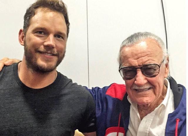 """画像1: chris pratt on Instagram: """"Thanks for everything Stan Lee! What a life, so well lived. I consider myself extraordinarily lucky to have gotten to meet you and to have…"""" www.instagram.com"""