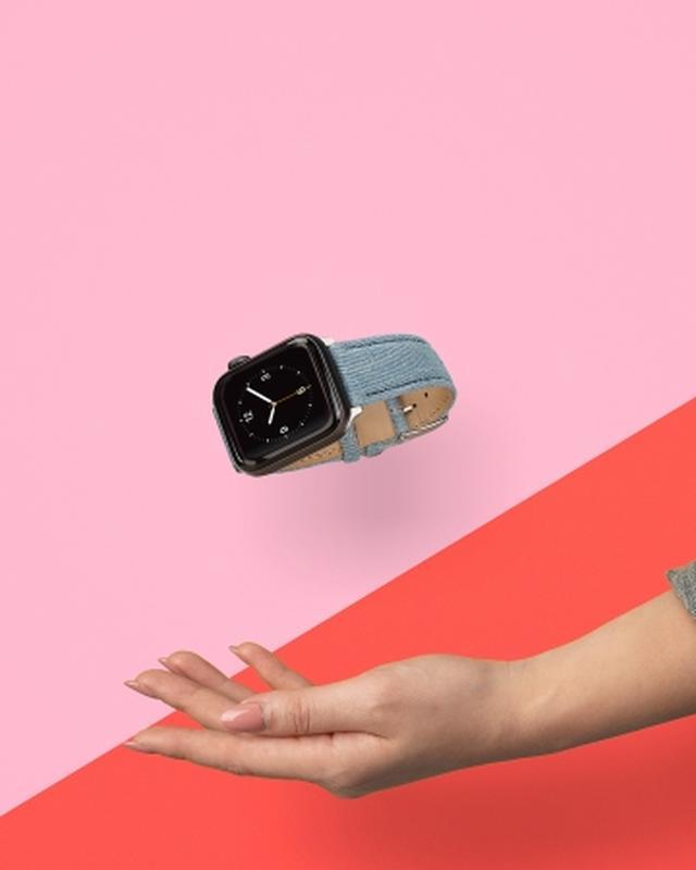 画像1: ケースティファイ、Apple Watch対応のデニムバンド発売