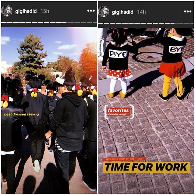 画像: ジジが撮影したコスプレをした一般来園者たち。©Gigi Hadid/ Instagram