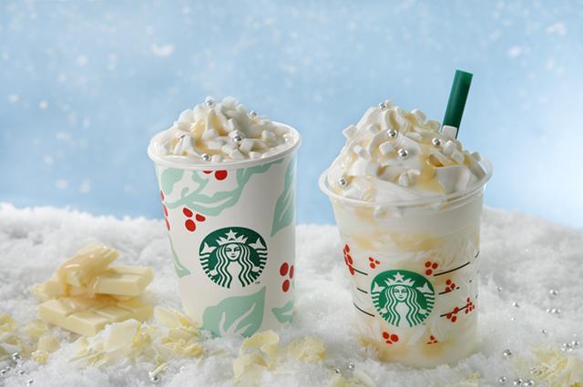画像: スターバックス新作は雪のような、ホワイト チョコレート スノー フラペチーノ
