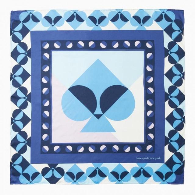 画像: geospade spade square scarf in blue 12,000円 (税抜)