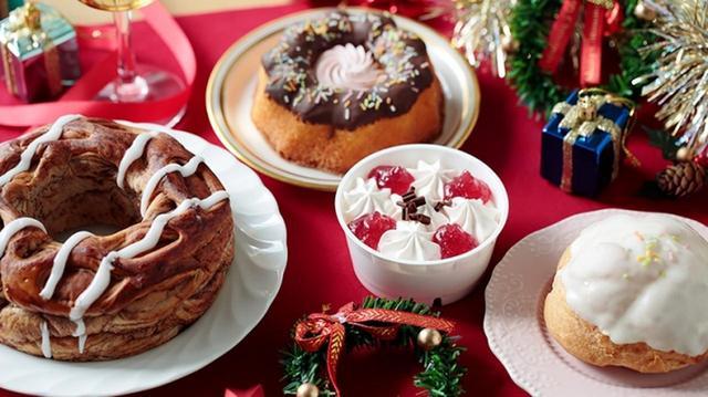 画像: 写真左から VLチョコリング/VLクグロフ(ミルクチョコ)/ブランデー香るショートケーキ/とちおとめ使用の苺のシュークリーム(各・税込108円) 12月5日(水)発売