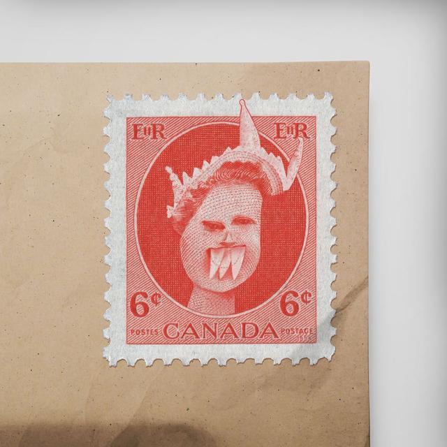 """画像1: Things I have drawn on Instagram: """"A Canadian stamp that features the Queen. ____ So it was Her Majesty after all. ____ #thingsihavedrawn #kidsdrawings"""" www.instagram.com"""