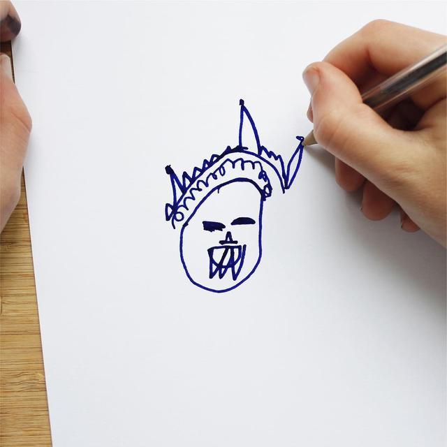 """画像1: Things I have drawn on Instagram: """"Who is this person Alistair's seen? _______ Comment below if you think you know! _______ #thingsihavedrawn  #kidsdrawings"""" www.instagram.com"""
