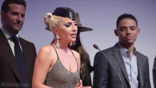 "画像: Lady Gaga saying ""there can be a hundred people in the room"" for one minute straight www.youtube.com"