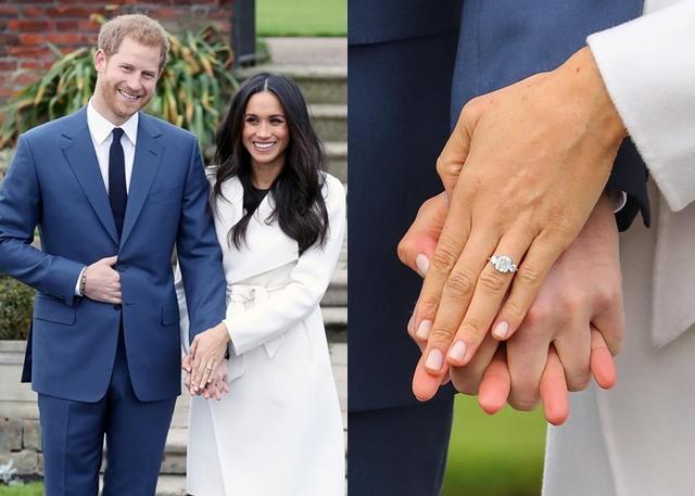 画像: メーガン妃の婚約指輪のデザインはヘンリー王子自らが担当。中央にある大きなダイヤモンドは、ヘンリー王子が「世界で一番自分らしくいられる場所」と語るボツワナ共和国からのもの。
