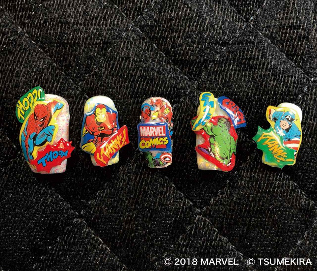画像4: マーベルのヒーロー達がネイルシールに!