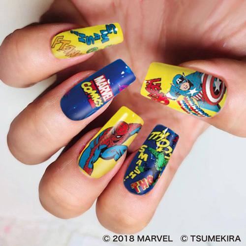 画像3: マーベルのヒーロー達がネイルシールに!
