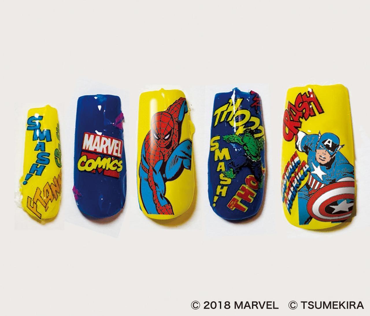 画像2: マーベルのヒーロー達がネイルシールに!