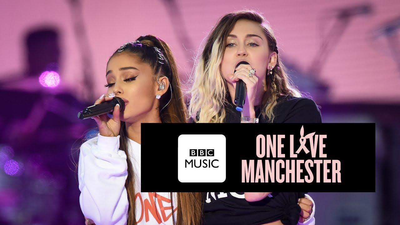 画像: Miley Cyrus and Ariana Grande - Don't Dream It's Over (One Love Manchester) www.youtube.com