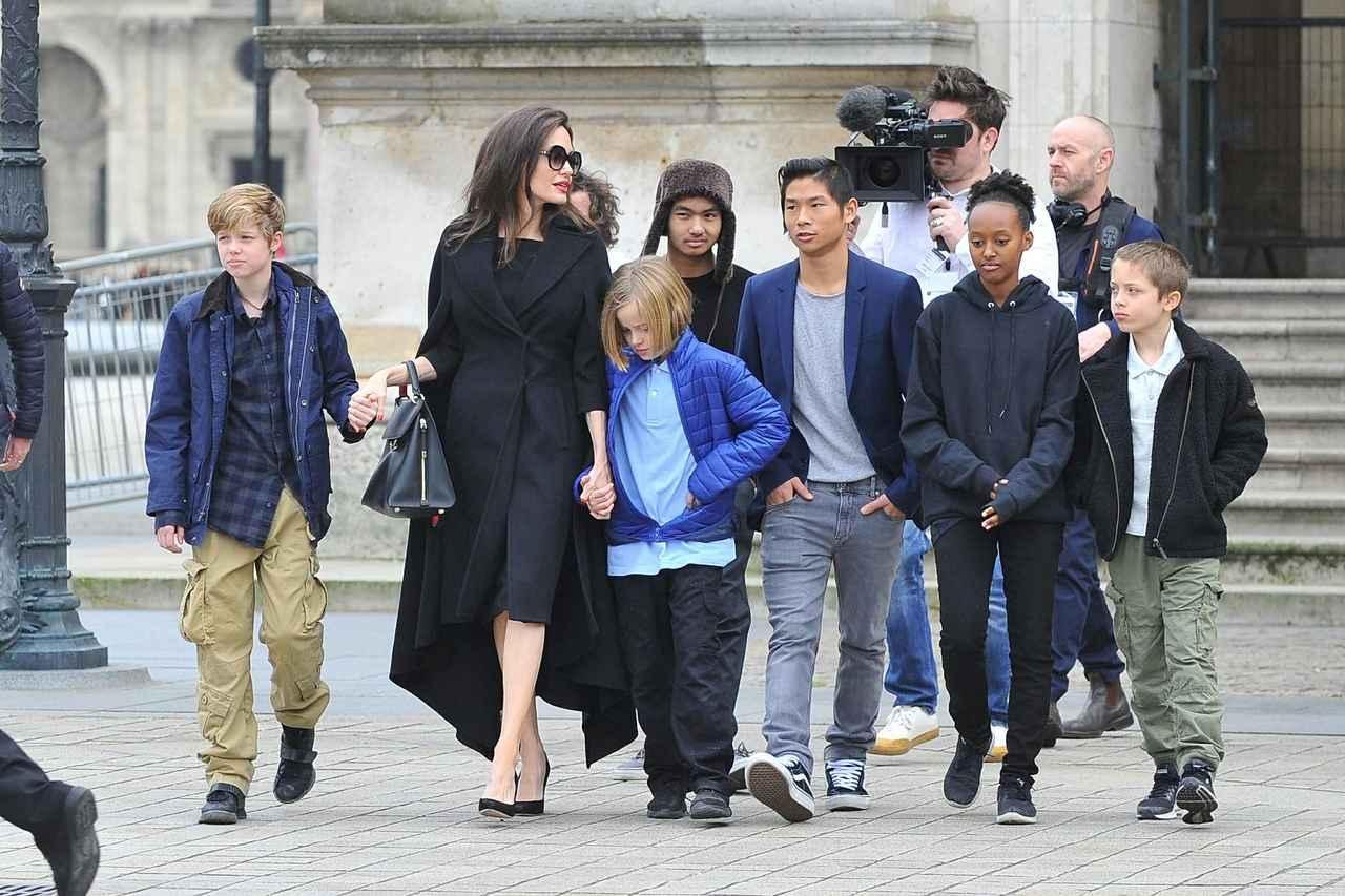 画像: 左からシャイロちゃん、アンジェリーナ、ヴィヴィアンちゃん、マドックス君、パックス君、ザハラちゃん、ノックス君。
