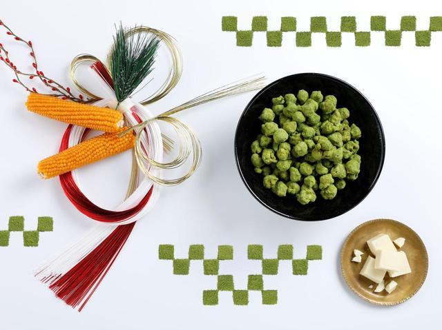 画像: ギャレット ポップコーン新作、抹茶トリュフ キャラメルがイノシシのデザイン缶に