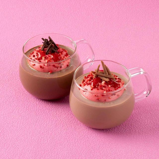 画像2: リンツの新作、ストロベリーマシュマロ ホットチョコレート