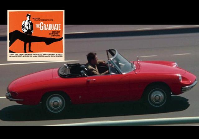 画像: ダスティン・ホフマン主演の映画『卒業』に登場して話題になったアルファロメオ スパイダー シリーズ1。